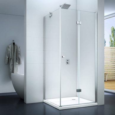 Kabina prysznicowa z drzwiami składanymi