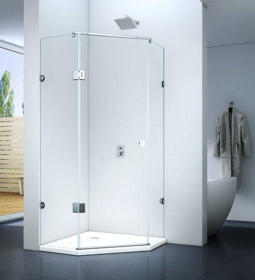 Kabina prysznicowa uchylna z drzwiami uchylnymi