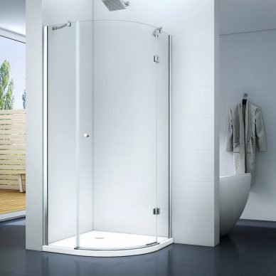 Kabina prysznicowa półokrągła narożna