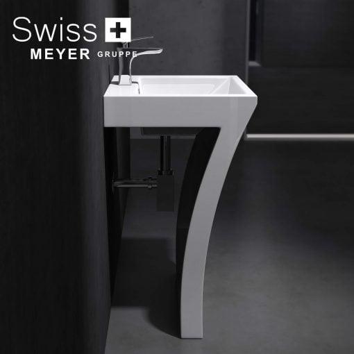Umywalka stojąca w kształcie 7 siódemki