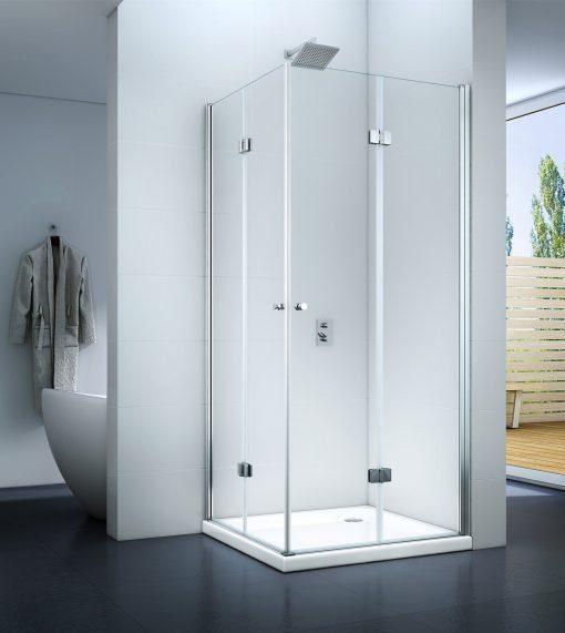 Kabina prysznicowa z drzwiami uchylnymi